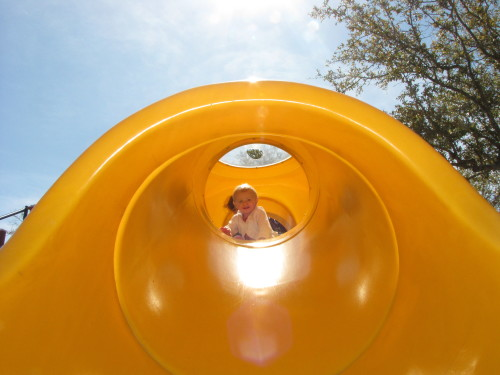 Siena and the slide